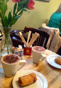The Ultimate Hot Chocolate Accompanied by Chorizo Sausage Rolls at Chandos