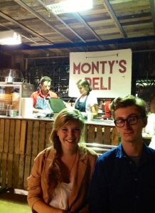 Smiley Satisfied Customers at Monty's Deli
