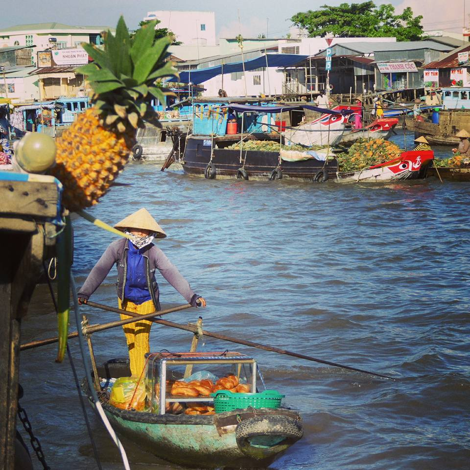 Cai Rang floating market, Mekong Delta, Vietnam